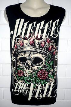 6d3cc3e38312c0 PIERCE THE VEIL skull Rock Band Music Metal T Shirt by Benicewear