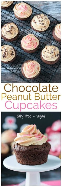 Chocolate Peanut Butter Cupcakes - Chocolate and P…Edit description