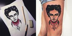 Vom Papier unter die Haut: Denis und seine schwarz-roten Bildwelten Der Tattoo-Künstler Denis Marakhin aus Sankt Petersburg hat genau 2 Farben, die ihm anscheinend den Kopf verdreht haben. Seine Motive entstehen n... #art #blackandred #illustration Weitere Informationen unter https://www.klonblog.com/vom-papier-unter-die-haut-denis-und-seine-schwarz-roten-bildwelten/