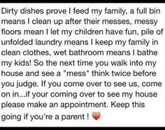 Dirty dishes prove I feed my family