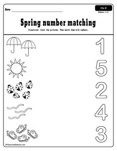 Spring preschool worksheets printable pack Free printable spring worksheets for preschool - fun spring activities for fine motor skills, numbers, letters, cut and paste, and more! Preschool Number Worksheets, Pre K Worksheets, Preschool Writing, Numbers Preschool, Preschool Learning Activities, Free Preschool, Preschool Lessons, Spring Activities, Spring Songs For Preschool