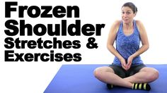 Frozen Shoulder Stretches & Exercises - Ask Doctor Jo Frozen Shoulder Pain, Frozen Shoulder Treatment, Stiff Shoulder, Sore Shoulder, Shoulder Pain Relief, Shoulder Workout, Shoulder Joint, Frozen Shoulder Surgery, Shoulder Injury Exercises