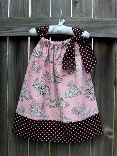 Kids Toile Pillowcase Dress by fluffygirlboutique on Etsy, $24.99