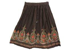 Womens Mini Skirt Brown Floral Sequin Dcrapechic Bellydance Skirts Mogul Interior,http://www.amazon.com/dp/B00D9PCN3K/ref=cm_sw_r_pi_dp_iKQbsb0MX14X3VHJ