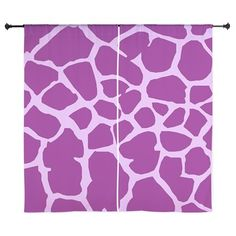 Animal Print (Giraffe Pattern) - Purple Curtains on CafePress.com