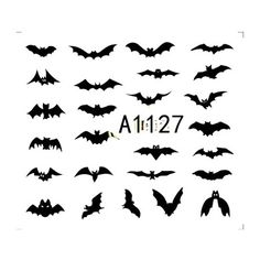 1 Sheet  Fashion Nail Art Decorations Halloween Bat Pumpkin/Cartoon/Stencil Nail Decals DIY Watermark Manicure Tools A1125 1128-in Stickers & Decals from Health & Beauty on Aliexpress.com | Alibaba Group