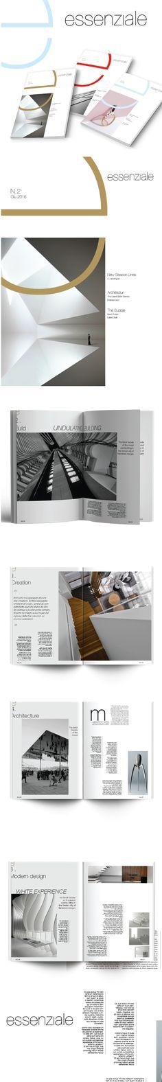 """Sviluppo e progettazione Magazine Architettura """" ESSENZIALE"""" ."""