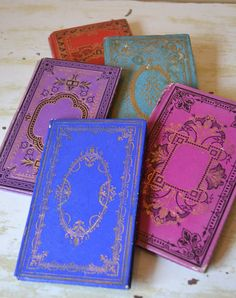Antique decorative children's books.