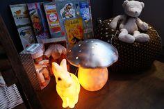 Pois <3 Plume lampes: lapin et champignon