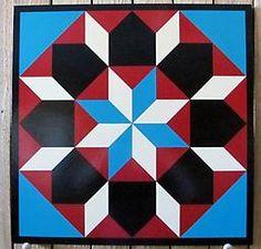 Star of Bethlehem SB0006 Star of Bethlehem pattern handpainted using blue green, kool crimson, black and chamois.