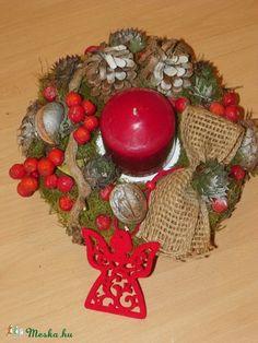 Karácsonyi,adventi bogyók ,asztaldísz,asztalközép (galamb70) - Meska.hu