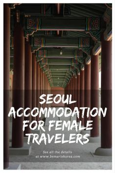 An accommodation in Seoul, South Korea specially designed solo and group female travelers.