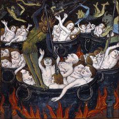 punishment of the greedy  Compost et calendrier des bergers, [Paris: Guy Marchant, 1493] (Angers, Bibliothèque municipale, SA 3390, fol. 35v)