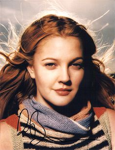 RARE Drew Barrymore Autographed Signed Photo