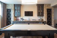 Very Nice Wet Bar and Pool Table