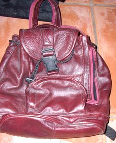 Leather Backpack Purse by ShabbyBuyDesign on Etsy, $10.00