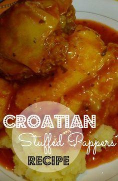 Croatian Stuffed Pepper Recipe #Croatian #Croatia #PunjenePaprike - Chasing the Donkey