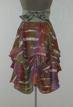 Delicious Colors of Curry Lavender and Sage Hand Dyed in Shibori Technique Ballerina With A Gun Signature Skirt by Laurie Schafer for Ballerina With A Gun Shibori Techniques, Festival Skirts, Coachella, Tie Dye Skirt, Ballerina, High Waisted Skirt, Lavender, Curry, Trending Outfits