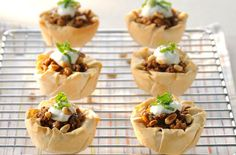 50 quick and easy canapes - Middle Eastern lamb pies - goodtoknow Easy Canapes, Canapes Recipes, Appetizer Recipes, Snack Recipes, Cooking Recipes, Snacks, Nibbles Ideas, Lamb Pie, Christmas Canapes