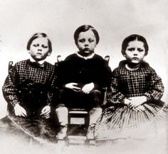 A photo of three children which had been found in their dead father's hand following the Battle of Gettysburg was published on October 19th 1863, in an attempt to identify the soldier.