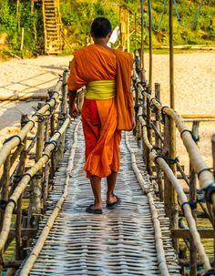 Beautiful photos of Luang Prabang, Laos, that will inspire you to plan a trip. Laos Travel, Mountainous Terrain, French Colonial, Luang Prabang, Colonial Architecture, Laos People, Southeast Asia, Cambodia, Vietnam