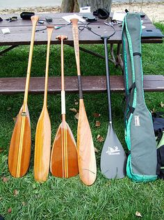 Various Canoe Paddles-reminds me of up north