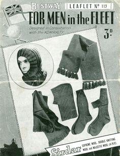 vintage mens knitting pattern
