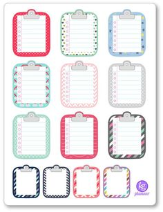 Clipboard Misc Pattern To Do List Planner Stickers