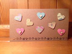 Pretty handmade hearts card