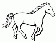 Running horse - Free Printable Coloring Pages