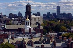 Adams House and the Boston skyline. (Kris Snibbe, Harvard Staff Photographer)