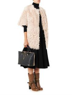 Drome Reversible collarless shearling coat