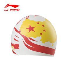 Li-Ning Original Adult Swimming Caps Men Women Waterproof Silicone Multi Bathing Caps LSJL831