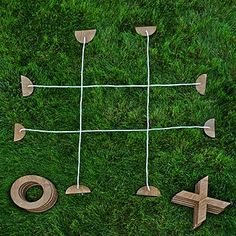 Take the classic game of tic-tac-toe outside with this oversized rendition. Take the classic game of tic-tac-toe outside with this oversized rendition. Diy Yard Games, Lawn Games, Diy Games, Backyard Games, Backyard Beach, Backyard Kids, Yard Games For Kids, Backyard Playground, College Party Games