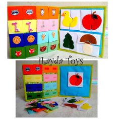 Libro tranquila ocupada Eco infantil amistoso libro por iLaydaToys