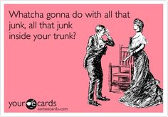 Whatcha gonna do with all that junk, all that junk inside your trunk?