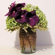 yau flori_aranjament cu hortensii ornitogalum si orhidee