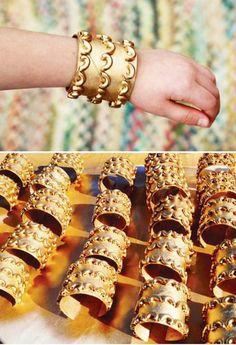 manualidad brazalete egipcio carton