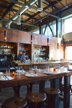 Corten Steel finish is very cool and blowing up right now Duende, Oakland, CA - #restaurant #design