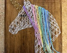 Great for hanging or freestanding. I can add sawtooth hanging hardware upon request. Check out my store for other string art pieces! I can make custom designed string art pieces upon request.