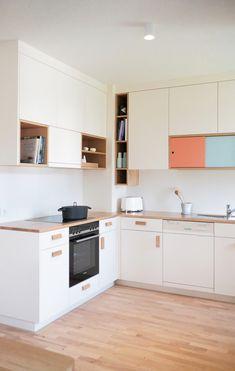 """Küchendesign für das Projekt """"Haus im Haus"""". Küchen Design, Kitchen Cabinets, Led, Home Decor, Decorating Kitchen, Projects, House, Kitchen Cupboards, Homemade Home Decor"""