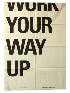 Work your way up / Unknown