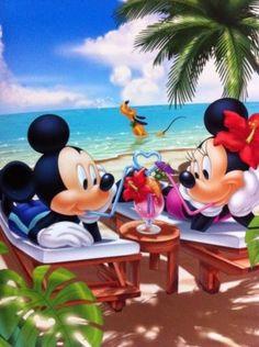 Mickey & Minnie at the beach