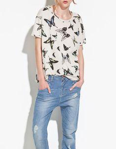 butterfly sweatshirt {zara}