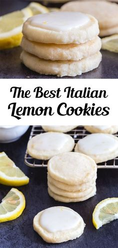 Perfect melt in your mouth Lemon Cookies. If you love anything lemon then you are going to love these cookies. Light and easy to make, with a tasty lemon glaze, they are sure to satisfy any lemon lover! This easy lemon cookie recipe is great for summer or anytime you fancy a citrusy treat! #lemoncookies #cookies Citrus Recipes, Fruit Recipes, Cupcake Recipes, Sweet Recipes, Bar Recipes, Dessert Recipes, Summer Recipes, Italian Lemon Cookies, Deserts