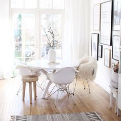 white + wood flooring