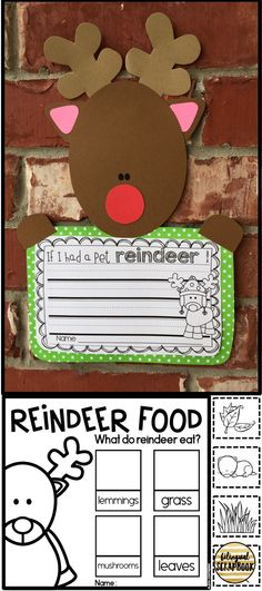 Fun reindeer craft with engaging printables in English and Spanish.