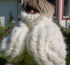 Mohair pullover sweater