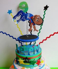 GYMNASTIC BIRTHDAY CAKE TOPPER FOR BOYS PARTY CENTERPIECE