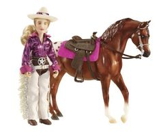 """Breyer Classics Kaitlyn Cowgirl by Breyer. $13.49. From the Manufacturer                This 6"""" articulated Western rider comes dressed to show in a flashy outfit. Set also includes a Western saddle, bridle, and saddle pad which will fit a Classics horse. Box Size: 5.5"""" x 2"""" x 9.625"""".                                    Product Description                This 6' articulated Western rider comes dressed to show in a flashy outfit! Set also includes a Western saddle..."""